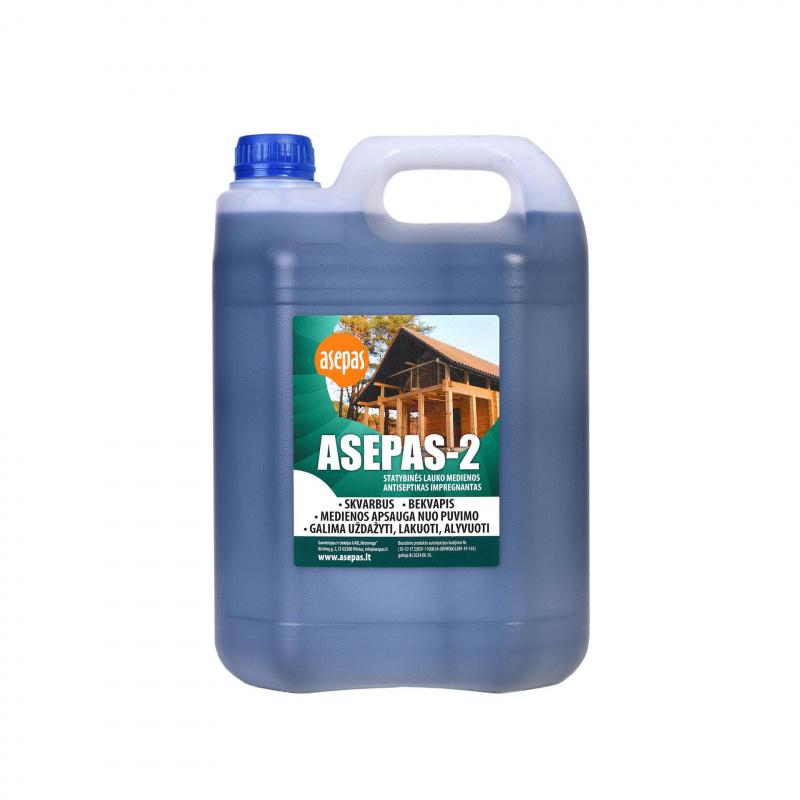 """""""Asepas-2"""", antiseptikas lauko medienai, koncentratas skiedžiamas vandeniu 1:2 santykiu"""