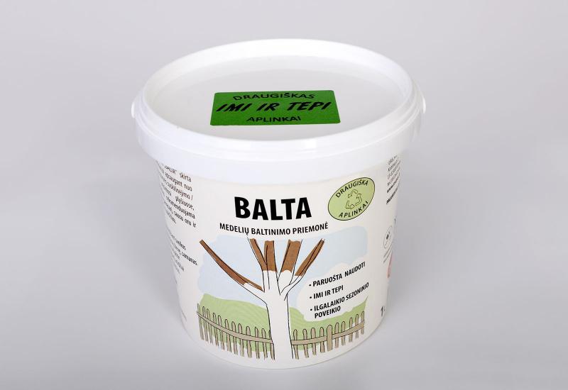 """""""BALTA"""" medelių baltinimo priemonė"""